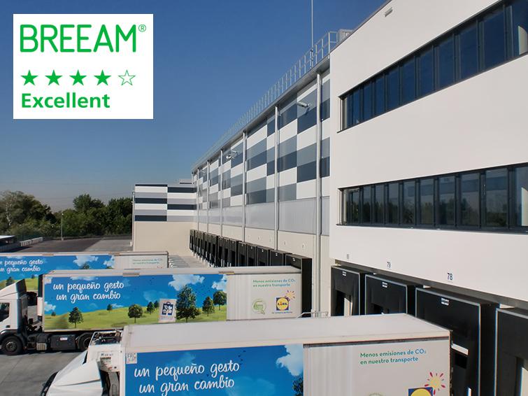 La plataforma logística de LIDL en Alcalá de Henares obtiene el certificado final BREEAM Excelente
