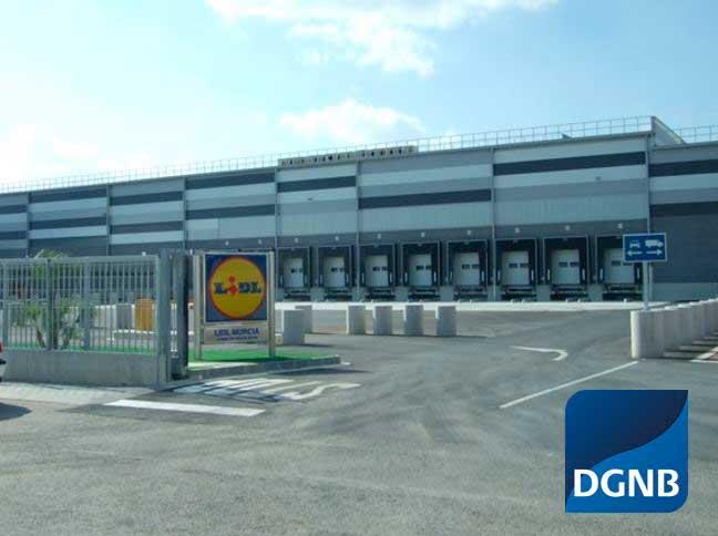 Almacén con certificación DGNB Oro y GBCe Verde 4 Hojas